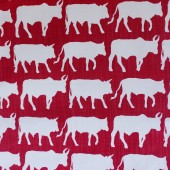 Transkei Cows Fabric (red)