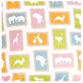 Zoo Biscuit Fabric (close up)