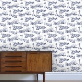 """Darling Toile du Jouy"" Wallpaper"