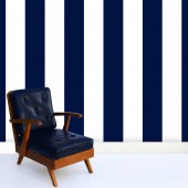 Indigo Pinstripes Wallpaper