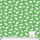 Origami Animals wallpaper - green