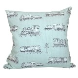 Vintage Trains cushion cover