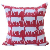 Transkei Cows Red cushion slip