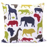 African Animals cushion slip